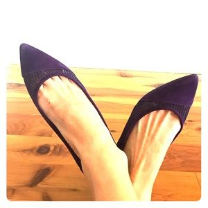 Nine West purple suede and mesh flats
